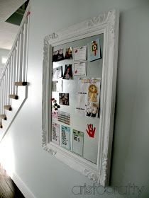 Aristocrafty: DIY Decorative Magnet Board Have the metal, need a big frame...