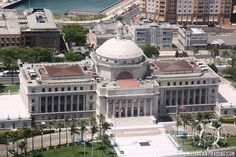 Aerial views of the Capital Building.  El Capitolio of Puerto Rico is home to the island's Senate and House of Representatives. Inside the building is the original document for the Constitution of the Commonwealth of Puerto Rico, among other historical artifacts and artwork, mosaic and friezes by some of Puerto Rico's best artists.  The offer tours and it is definitely worth checking out of you are interested in Puerto Rico's history and political status.