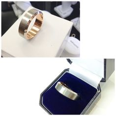 Beautiful two tone 18ct White and rose gold wedding band.