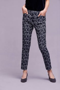 Slide View: 2: Hartley Printed Trousers, Navy Breastfeeding Outfits, Pumping At Work, Working Mums, Printed Trousers, What To Wear, Anthropologie, Style Inspiration, Navy, Prints
