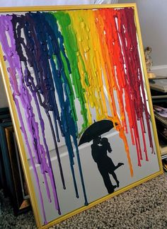 DIY Melted Crayon Picture With a Glue Gun