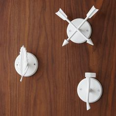 These cabin-inspired hooks are a handsome hanging spot for your coat, hat or hand towel.