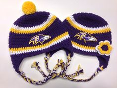 Baltimore Ravens Crochet Hat by CraftyIAmKnot on Etsy