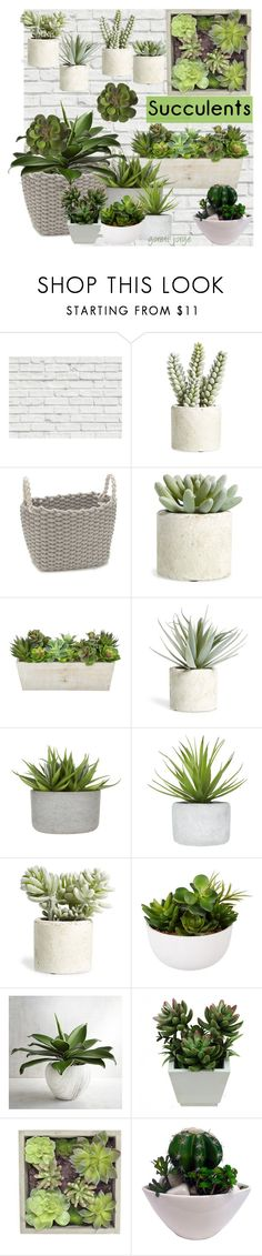 """""""Grow a Little: Planters"""" by goreti ❤ liked on Polyvore featuring interior, interiors, interior design, home, home decor, interior decorating, Brewster Home Fashions, Allstate Floral, Modern.Southern.Home. and John Lewis"""