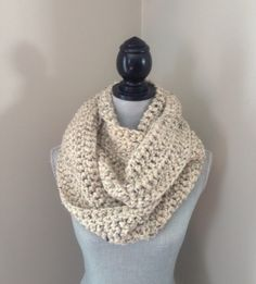 Crown Knits - crochet infinity scarf CrownKnits.Etsy.com
