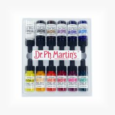 Martin's Hydrus Fine Art Watercolor, oz, SOOOO excited for these (Transparent Bottle Painting) Liquid Watercolor, Watercolor Lettering, Watercolor Paintings, Watercolors, Hand Lettering, Air Brush Painting, Bottle Painting, Artist Painting, Rock Painting