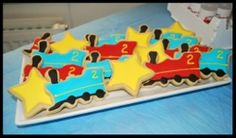 Train sugar cookies I made for J's party
