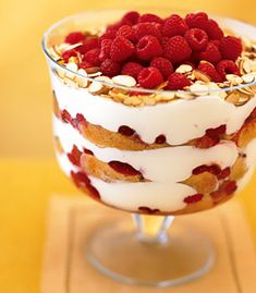on epicurious.com - white chocolate and almond Trifle - have made 3 times an easy do ahead that gets oooohs and ahhhhhs