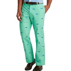 Vineyard Vines Mens Embroidered Tuna Club Pants