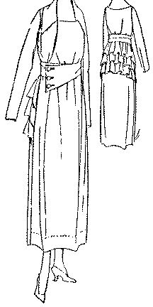 Past Patterns: #8159: Ladies' Dress with Two-Piece Skirt: Circa 1917
