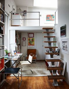 a loft-like office s