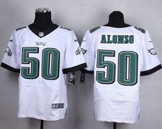 "$23.88 at ""MaryJersey""(maryjerseyelway@gmail.com) Nike Eagles 50 Kiko Alonso White Men Stitched NFL New Elite Jersey"