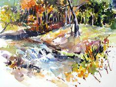 Branson Creekside Painting  - Rae Andrews