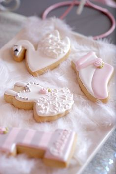 Cookies from a Swan Lake Ballerina Birthday Party via Kara's Party Ideas KarasPartyIdeas.com (16)