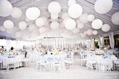 #White  #wedding reception ... Wedding ideas for brides, grooms, parents & planners ... https://itunes.apple.com/us/app/the-gold-wedding-planner/id498112599?ls=1=8 … plus how to organise an entire wedding, without overspending ♥ The Gold Wedding Planner iPhone App ♥
