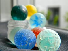 marbles weathered by the sea