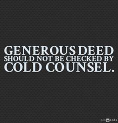 A majority genrous deed