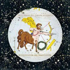 Sagittarius constellation zodiac melamine plate by TheMadPlatters