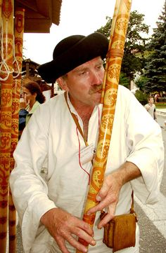 Fujara [The fujara (Slovak pronunciation: [ˈfujɑrɑ])[1] originated in central Slovakia as a large sophisticated folk shepherd's overtone fipple flute of unique design. It is technically a contrabass in the tabor pipe class.]