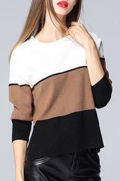 zaful | color block sweater
