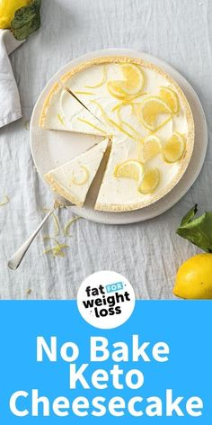Sugar Free Desserts, Sugar Free Recipes, Low Carb Recipes, No Bake Desserts, Easy Desserts, Easy Recipes, Keto Cheesecake, No Bake Lemon Cheesecake, Keto Food List