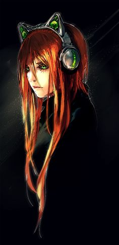 Robin wearing the Axent headphones from webcomic Fisheye Placebo by Wenquin Yan- yuumei art on deviantart Manga Anime, Anime Art, Character Design Cartoon, Character Art, Yuumei Art, Fisheye Placebo, Fantasy Magic, Pixiv Fantasia, Image Manga