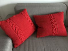 Cable knitted pillow case by MissLiiBySveta on Etsy
