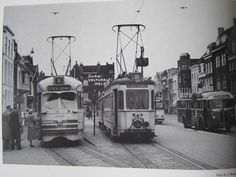 Old trams in Den haag (NL)