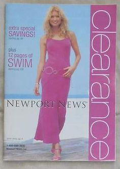 NEWPORT NEWS Catalog/ Clearance/ 2004/ Marissa Miller Cover/ Clean Back Cover | eBay