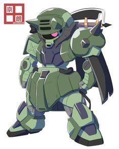 """京田朗 on Twitter: """"戦士ザク… """" Battle Bots, Gundam Build Fighters, Bravest Warriors, Gundam Art, Super Robot, Plastic Model Kits, Mobile Suit, Creative Inspiration, Transformers"""