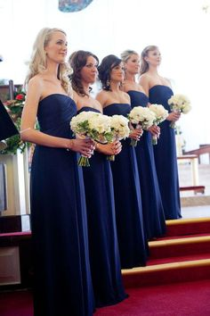 New Royal Blue Long Bridesmaid Dresses 2015 Formal Chiffon Pleats Bridesmaid  Group Gown Wedding Party Dess f8ad5ba75692