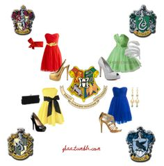 Harry Potter inspired outfits according to house.