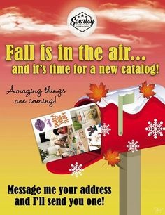 Fall is in the AIR and it's time for a new catalog. Email me at smellarific@yahoo.com to get yours.