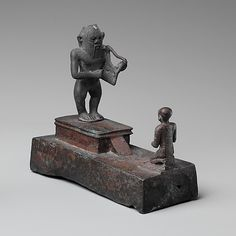 Bes with Worshiper ca. 664–380 B.C. MET 04.2.403