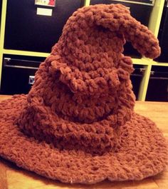Crocheted Sorting Hat - same lady who did the Doctors...she is definitely talented!