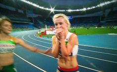 Georgie Hermitage overcome with emotion after winning Gold