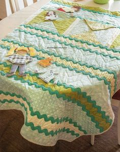Flat Friends Quilt Pattern Pieced LO