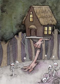 The Witch's House Ltd. Edition Giclee Print 5 by StupidAnimalShop, $30.00