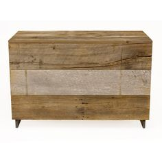 Reclaimed Hardwood Dresser - Salvaged Wood From Old Barn