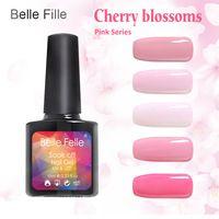 LED UV Gel Nail Polish Semi Permanent Nail Gel Lacquer Candy Pink Colors Cherry Blossoms Natural resin 10 ml Bling Nail Gel