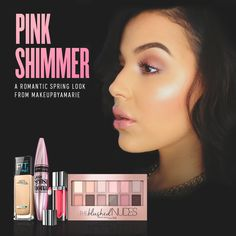Hey, Pink Lady. We're smitten with this soft pink spring look from @makeupbyamarie. Watch her tutorial for the full how-to.