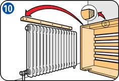 Ted's Woodworking Plans - Comment fabriquer un cache radiateur ? - Get A Lifetime Of Project Ideas & Inspiration! Step By Step Woodworking Plans Teds Woodworking, Diy Furniture, Woodworking Projects Diy, Furniture Plans, Diy Woodworking, Home Diy, Diy Radiator Cover, Woodworking Plans, Carpentry Projects