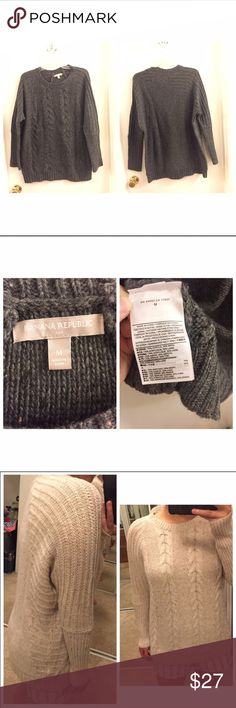✨OPEN TO OFFERS✨ NWOT BR pullover sweater Never been used oversized pullover sweater made with 70% acrylic and 30% wool Banana Republic Sweaters Crew & Scoop Necks