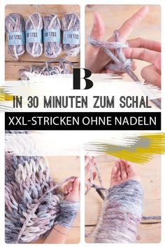 "Newest Pic arm knitting clothes Thoughts ""Arm-Knitting"" heißt der neue Stricktrend: Mit richtig dicker Wolle wird in Rekordzeit ein vol Chunky Knitting Patterns, Arm Knitting, Knitting Needles, Crochet Patterns, Giant Knitting, Afghan Patterns, Cozy Blankets, Crochet Blankets, Knitting For Beginners"