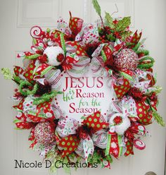 Deluxe Jesus is the reason Red White Green by NicoleDCreations