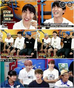 """You are laughing way too hard J-Hope. *sigh* J-hope's """"innocent"""" thoughts..."""