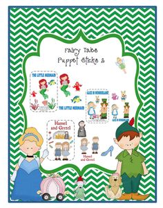 Preschool Printables: Fairy Tales with Puppet Sticks 2