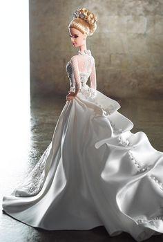 Of course, she makes the perfect bride. Reem Acra Bride Barbie. #barbie #bride