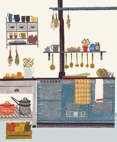 Kitchen illustration by Lieke van der Vorst