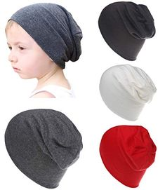 ada2df15896144 Qandsweet Baby Boy's Hat Kids Cool Knit Beanie Hats Toddlers Caps (4 Pack  Boy)